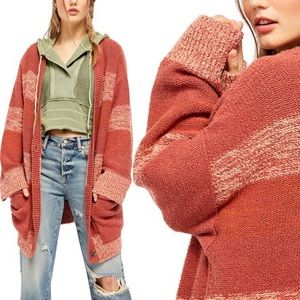 Free People Southport Oversized Knit Cardigan Sz S